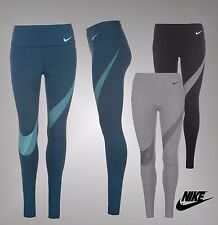 Ladies Genuine Nike Sports Dri Fit Graphic Tights Running Stretchy Pants Bottoms