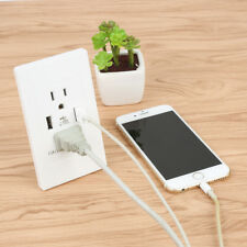 2 USB Port Electric Wall Charger Charging Socket Adapter Power Outlet US FT9