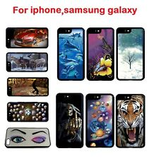 Luxury 3D Effect Changing Case Cover Protector for iphone Samsung Mobile Phones