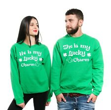 St Patrick's Day Funny Matching Couple Unisex Sweatshirts Lucky Charm Sweaters
