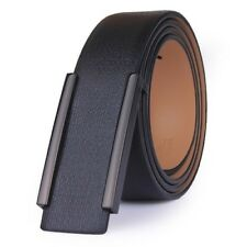 Leather Belt Men's Fashion Casual Band Smooth Buckle Waistband Male High Quality