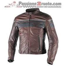 Giacca pelle Dainese Blackjack T di Moro Nero Dark Brown Black leather Jacket