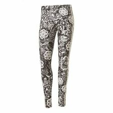 NEW Adidas Originals Womens Florido Floral Lace Print Gym Leggings UK Size 8 14