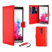 Magnetic PU Leather Book Wallet Flip Case Cover For LG Various Phones