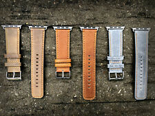 NEW Quality Leather Watch Strap Band for Apple Watch Series 1 2 & 3 38mm 42mm
