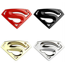 3D Superman Chrome Metal Auto Car Motorcycle Logo Sticker Badge Emblem Decal New