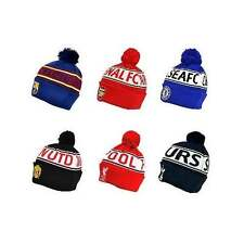 9b0476789956a Football Team OFFICIAL Text Cuff Bobble Hats - Kids   Adults - Beanie Gift  - NEW