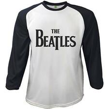 THE BEATLES - Classico LOGO BASEBALL T-SHIRT UOMO - NUOVO E ORIGINALE MELA Corps