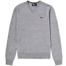 Fred Perry Classic V Neck Knit K7210 307 Jersey