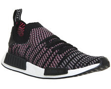 Mens Adidas Nmd R1 Prime Knit CLEAR BLACK GREY SOLAR PINK Trainers Shoes