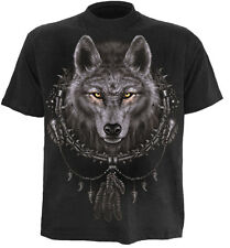 Spiral Wolf Dreams, T-Shirt Black|Wolf|Mystical|Celtic|Native American