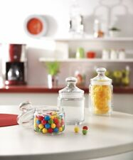 6 Luminarc Glass Pot Club Storage Jar with Push Lid Candy Box AirTight Container