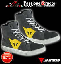 Scarpe moto scooter Dainese Street Biker wp antracite giallo yellow shoes