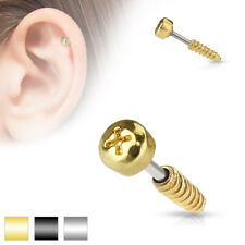 Piercing Al Trago 6 Mm - Viti Vite Spina Helix Zirconia Cartilagine Barbell
