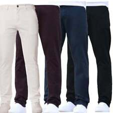 Enzo Enzo New Mens EZ348 Slim Fit Stetch Designer Burgundy Jeans Chinos