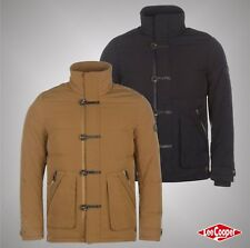 Mens Designer Lee Cooper Full Zip Button Down Insulated Fill Jacket Top