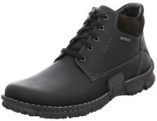 Josef Seibel Willow 24 homme chaussures plates à lacets 14510 Ma 86 Noir Neuf