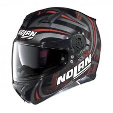 Casco integral motorrad Nolan N87 Luz led Glossy black red 30 helmet