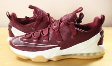 New Nike Lebron XIII Low Cavs Team Red Sail Burgundy Shoes James QS 831925-610