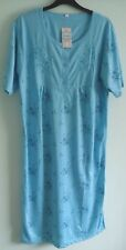 Ladies 'LUCKY BRAND' PolyCotton Short Sleeve Blue Floral Nighty sizes M L XL XXL