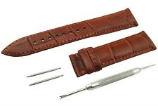 BROWN Genuine Leather Strap/Band fit TISSOT Watch Clasp 18 19 20 21 22mm
