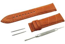 Light BROWN Genuine Leather Strap/Band fit TISSOT Watch Clasp 18 19 20 21 22mm
