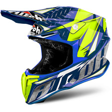 Casco moto cross Airoh Twist Iron blu TWIR18 off road enduro motard motocross