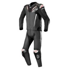 ALPINESTARS ATEM V3 2 PIECE LEATHER MOTORBIKE MOTORCYCLE SUIT BLACK WHITE