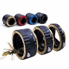 COLORFUL METAL AF MACRO EXTENSION TUBE RING FOR CANON EOS EF EFS