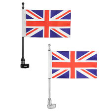 MOTORCYCLE UNITED KINGDOM BRITISH UNION JACK FLAG POLE LUGGAGE RACK MOUNT FOR