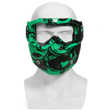MOTORCYCLE HELMET DETACHABLE MODULAR MASK SHIELD GOGGLES FULL FACE PROTECT CLEAR