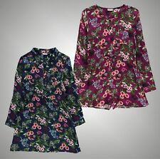 Kids Girls Crafted Lightweight Long Sleeves Printed Playsuit Top Size Age 3-12