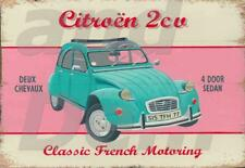 VINTAGE STYLE RETRO METAL PLAQUE Citroen 2cu. Classic French Motoring Sign/Ad