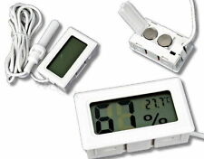 Mini Digital LCD Thermometer Feuchtigkeit Temperatur Hygrometer Probe Sensor UK