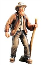 Farmer, statue wood carving for Nativity set mod. 912