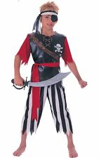 BOYS CARIBBEAN PIRATE KING CAPTAIN SPARROW FANCY DRESS BOOK WEEK COSTUME OUTFIT