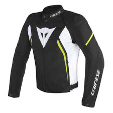 GIACCA DAINESE AVRO D2 TEX JACKET BLACK/WHITE/YELLOW-FLUO - 1735190 Q90
