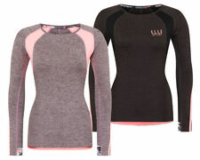 NUOVO DONNA ELLE Sports Fortitude CORSA manica lunga Performance Top Palestra