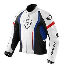 chaqueta de motociclista Revit Rev'it Raceway white azul red Chaqueta M L