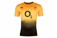 Canterbury Mens England 2018/19 Players Poly Rugby Training T-Shirt Gold Sports