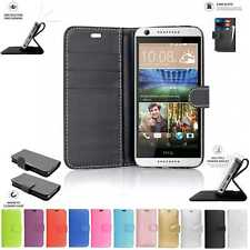 HTC Desire 626/650 Book Pouch Cover Case Wallet Leather Phone Black Pink