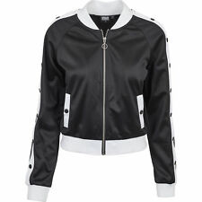 Urban Classics Ladies Button Up Track Jacket Streetwear Giacca College Donna