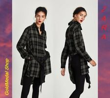 ZARA New Checked Long Shirt With Belt Long Sleeve Sizes: XS+; S+; M+; L+; XL+