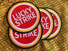 Lucky Strike Racing Sport Embroidered Patch Sew Iron On Motor Biker Motorcycle