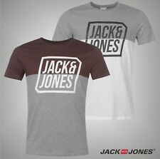 Mens Branded Jack And Jones Printed Core Half T Shirt Cotton Top Size S-XXL