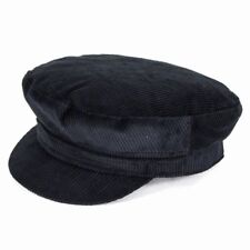 Failsworth Hats Mariner velours côtelé Casquette - Noir