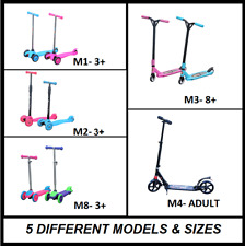 Kids Scooter Adult Teen Push Kick Stunt Commuter Ride Pink Blue Green Mobility