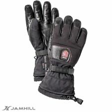 Hestra Rechargeable heated leather ski gloves. Breathable & Waterproof