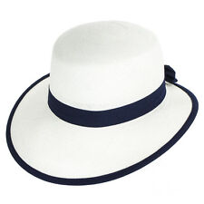 Whiteley Cappelli MILLY ORIGINALE PANAMA CON VISIERA - Bianco/Navy