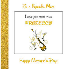 "Mother's Day Card ""I Love You More Than..."", Chocolate, Prosecco, Cake, Wine etc"